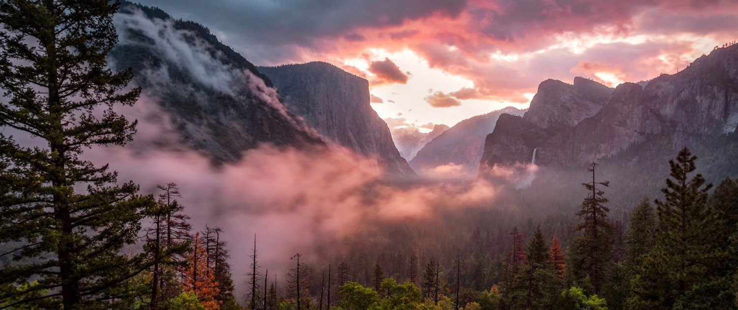 Yosemite Valley Purple Sky