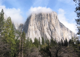 El Capitan with Clouds