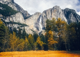 Yosemite Falls in Fall Colors