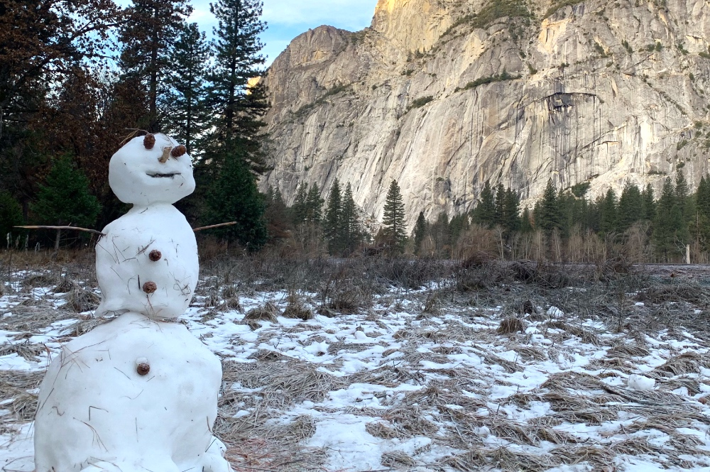 Snowman on Yosemite Bracebridge Dinner Tour