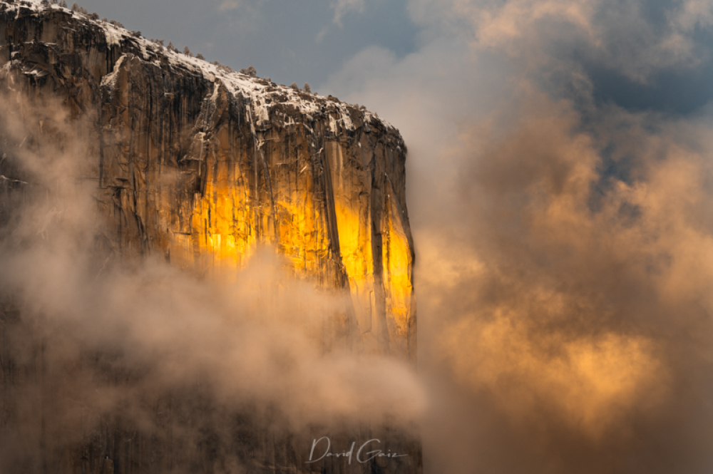 El Capitan in Winter by Dave Gaiz