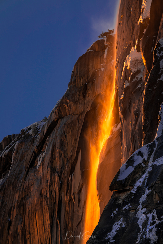 Yosemite Firefall in Winter