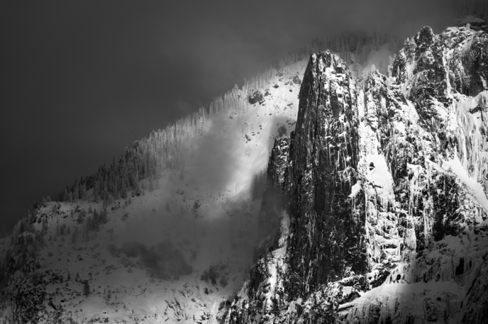 Yosemite's Sentinel in Winter Snow